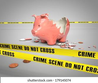 stolen savings from a broken piggy bank