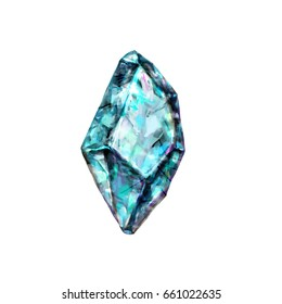 Stone blue topaz crystal