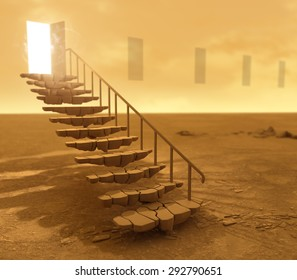 Stone stairs in the desert