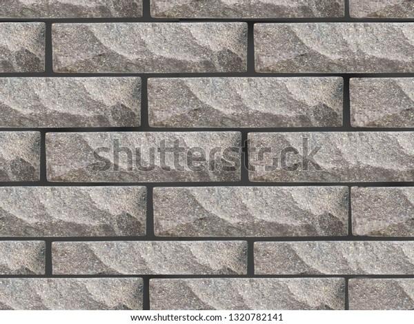 . Stone Wall Pattern Seamless Brick Texture Stock Illustration 1320782141