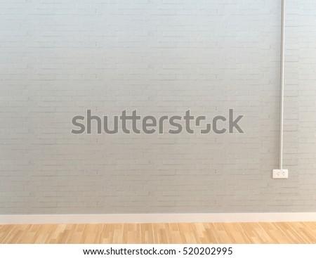 Stone wall plug modern interior decoration stock illustration