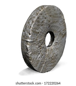 Stone Wheel made in 3d software
