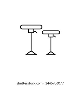 stool icon. Simple thin line, outline illustration of Hotel Service icons for UI and UX, website or mobile application