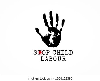 Stop child labour. World day against child labour June 12.