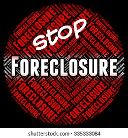 Stop Foreclosure Showing Stopped Control And Borrower