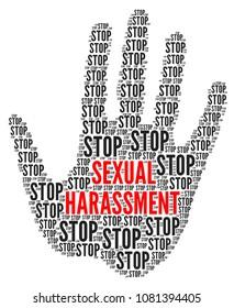Detener ilustración de acoso sexual