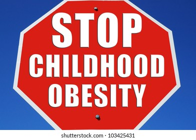 """Stop sign reading """"Stop Childhood Obesity"""""""
