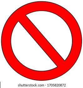 Stop Sign Symbol. Warning Stopping Icon, Prohibitory Character Or Traffic Stops Signal Isolated on white background