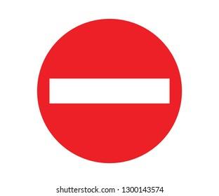 Stop symbol. no entry - image