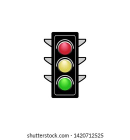 """Yellow Small Red on a Hand Held Flag Green /""""TRAFFIC LIGHT/"""" HAND WAVING FLAGS"""