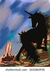 The Stormy Unicorn from afar