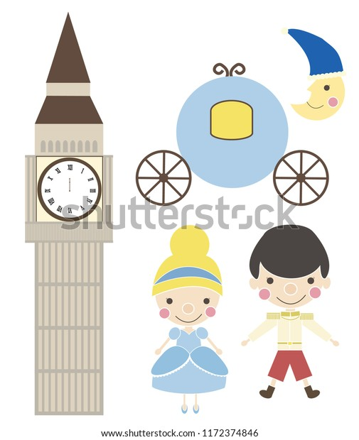 Story Cinderella Fairytale Illustration Princess Prince