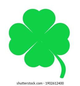 St.Patrick 's Day. Clover leaf emblems. Printing house.