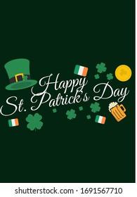 St.Patricks Day poster, template, background, yellow, Irish flag
