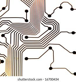 straight hi-key circuit board pattern copper lines