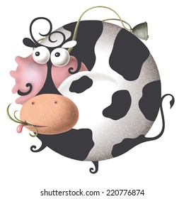 Strange cow cartoon