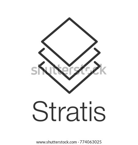 Stratis Coin Linear Icon Thin Line Stock Illustration