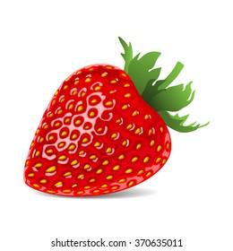 strawberry red cartoon nature berry art