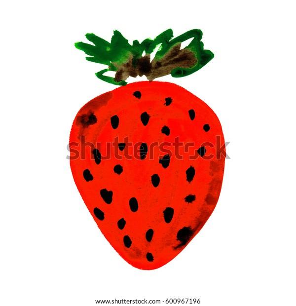 Strawberry sketch drawing
