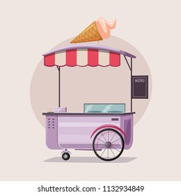 Similar Images, Stock Photos & Vectors of Street food cart, vector