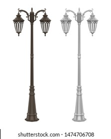 Street Lamp Post Isolated. 3D rendering
