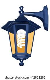Street lamp for vector design