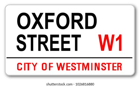 The street name sign from Oxford Street West One