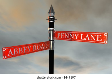 Street Sign / Abbey Road meets Penny Lane