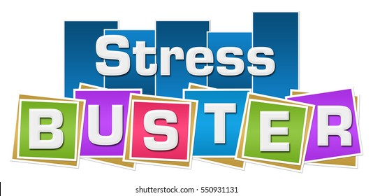 Stress Buster Colorful Squares Stripes