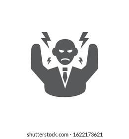 Stress icon on white background