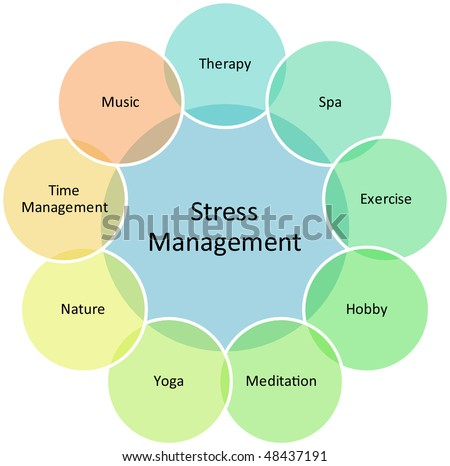 Stress Management Business Strategy Concept Diagram Stock