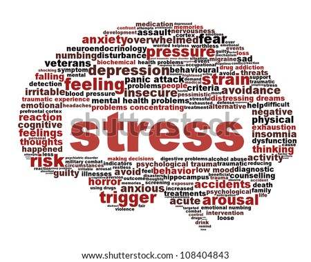 Royalty Free Stock Illustration Of Stress Symbol Isolated On White
