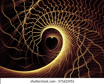 Strings of Soul Gears of Mind series. Composition of  human profiles and fractal lines to serve as a supporting backdrop for projects on spiritual, emotional and mental life