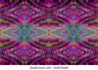 Stripe Repeat. Burgundy Design Geo Tile. Amethyst Dye Faded Fabric. Violet Youthful Stripes. Shibori Pattern. Mulberry Boho Fashion. Indigo Ikat Art Texture. Fuchsia Washed Print.
