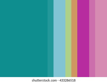 Striped Background in bright teal/fuchsia/pink/green, vertical stripes, color palette background