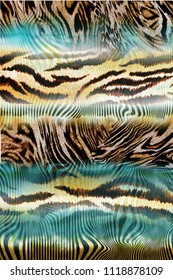 Striped design with modified animal skin
