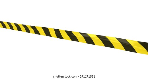 Striped Hazard Tape Line at Angle