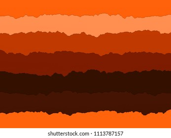A striped paper collage in shades of orange. This was made using scanned strips of torn paper. Ideal for use as a craft themed background.