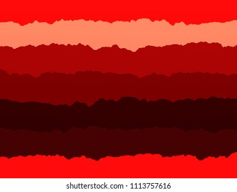 Striped paper collage in shades of red. This was made using scanned strips of torn paper. Ideal for use as a craft themed background.