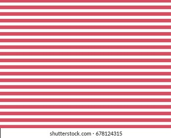 Striped red  background. Chess pattern of horizontal stripes. Trendy pink color.