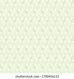 Striped seamless floral background. Vintage Wallpaper Illustration