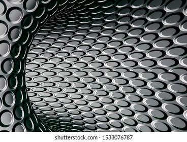 Striped steel texture metal background