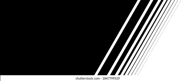 Stripes black and white with diagonal color transition