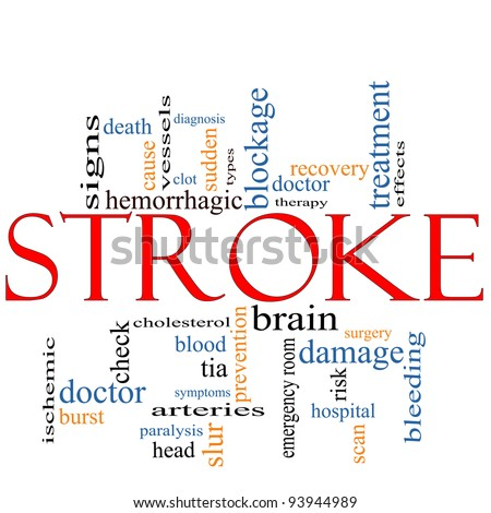 stroke symptoms word  Stroke Word Cloud Concept Terms Such Stock Illustration 93944989 ...