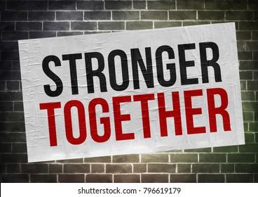 stronger together - poster concept