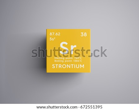 Strontium Alkaline Earth Metals Chemical Element Stock Illustration