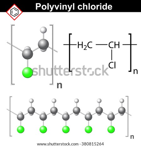 Structural Chemical Formula Model Polyvinyl Molecule