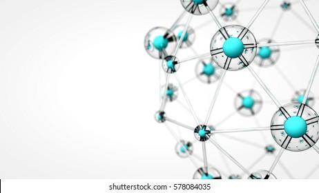 Structure of molecular formula. 3d render illustration.