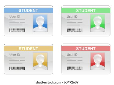 Student ID card with bar code and generic student