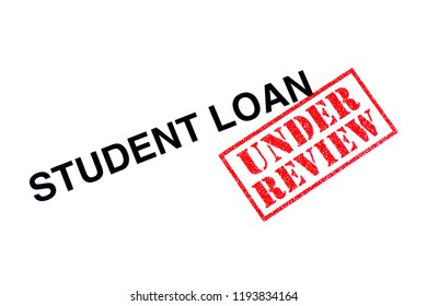 Student Loan heading stamped with a red UNDER REVIEW rubber stamp.